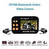 Dash Cam Moto, Blueskysea Enregistrement Video Moto 1080P Double Camera Moniteur LCD 2,7 Pouces Vision Nocturne
