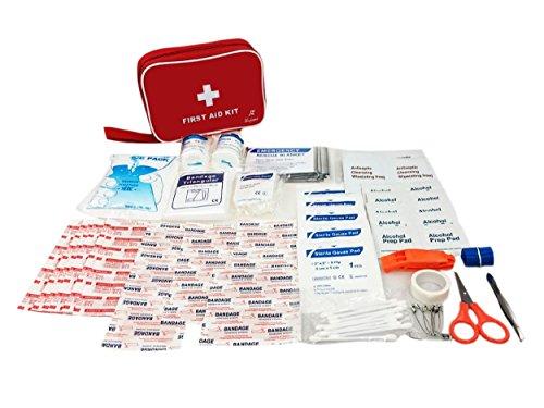 Erste-Hilfe-Kit 86 Stück (Verbandskasten) First Aid Kit, Erste-Hilfe-Kit enthält Notfall-Folie Decke, CPR Gesichtsmaske für Haus, Fahrzeug, Reise, Büro, Arbeitsplatz, Kinderbetreuung, Wander