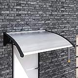 Vislone Auvent de Porte Auvent Terrasse Auvent Porte D'entrée 150 x 100 cm