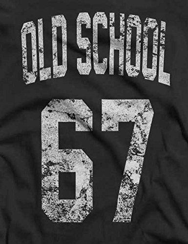 Oldschool 1967 T-Shirt S-XXL 12 Colori / Colours Grigio scuro
