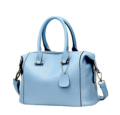 A&N, Borsa a zainetto donna Medium LightBlue