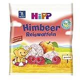 HiPP Bio Himbeer Reiswaffeln, 7er Pack (7 x 30 g) -