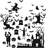 Livingstyle & Wanddesign Halloween Grusel Hexe Grabstein Fledermaus Fensterdeko Wandtattoo Fensterdekoration Friedhof Kürbis Geist