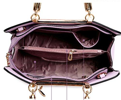 Keshi Pu neuer Stil Damen Handtaschen, Hobo-Bags, Schultertaschen, Beutel, Beuteltaschen, Trend-Bags, Velours, Veloursleder, Wildleder, Tasche Hellrosa In