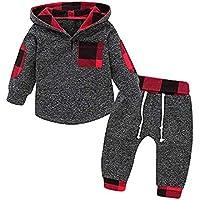 iBaste_Baby Outfit Jungen Mädchen Babykleidung Kleinkind Hoodie +Hosen Sweatshirt Pullover Outfit Baby