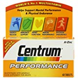 Centrum Performance Multivitamin and Minerals Plus Ginseng and Ginkgo Biloba Supplement 60 Tablets
