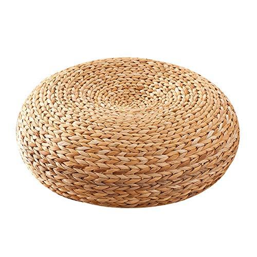 JF Room Sitzkissen, handgefertigt, umweltfreundlich, gepolstert, gestrickt, flach, handgewebt,Kissen Sitzkissen Yoga umweltfreundlicher Japanische Tatami-Bodenkissen