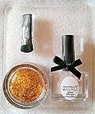 New Nail Art GDCOCO Set Klar/Bronze 3-tlg, Nagellack 15ml, Döschen Pailletten mit Pinsel, ciate, Einleger für Einarbeitung in Gelnägel Nagel Design