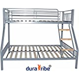 DuraTribe Triple Sleeper Metal Bunk Bed Silver Colour - EN747-1 Certified