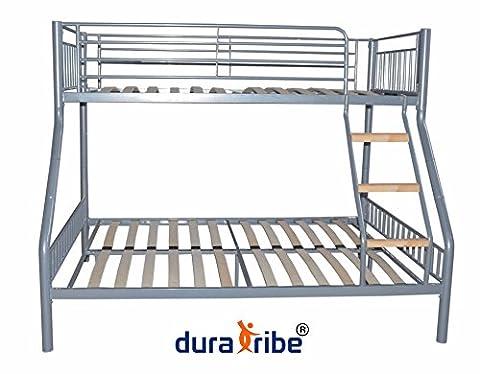 DuraTribe Triple Sleeper Metal Bunk Bed Silver Colour - EN747-1