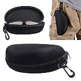 2win2buy Zipper Hard Eye Glass Case Box Sunglass Protector Travel Fashion with Belt Clip