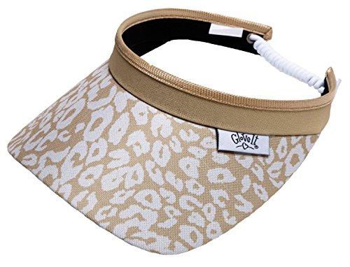 new-ladies-glove-it-uptown-cheetah-golf-coil-visor