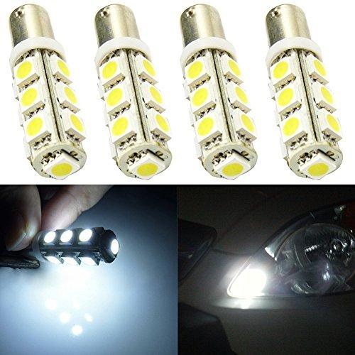 Taben 2 x Super Lumineux 5050 13-ex Garde toujours BA9 BA9S 53 57 1895 64111 ampoules LED utilisé pour porte latérale Courtois lumières carte Lampes Blanc 12 V