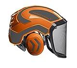 Protos Sicherheitshelm Integral Forest Gehörschutz, Farbe:orange/schwarz;Ausstattung: feines Visier