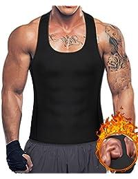 35f91df0f42e4d Bingrong Men s Weight Loss Sweat Sauna Vest Neoprene Workout Tank Top  Y-Back Slimming Waist