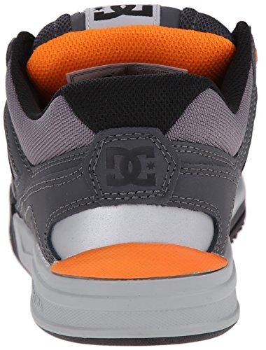 DC Men's Stag 2 Skate Shoe, Black/Dark Shadow/Green, 6 M US Grey/Grey/Orange