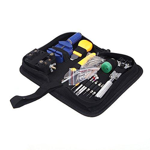 KKmoon Reparatursatz, Werkzeug-Set, für Uhren, handlich, 144-teilig - Juegos De Relojes