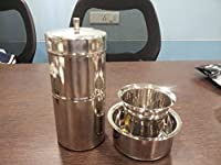 Combo of Stainless Steel South Indian Filter Coffee Drip Maker + Davra Vati Set By iStoreDirect!