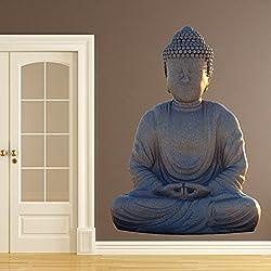 Buda vinilos decorativo Religioso adhesivos pegatina pared indio Arte de la decoración del hogar Disponible en 8 Tamaños XX-Grande Digital