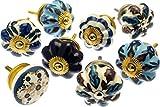 Türknauf-Set von Blau & Weiß Vintage Stil Keramik X Pack 8(mg-713)–'Mango Baum' TM eingetragenes Produkt