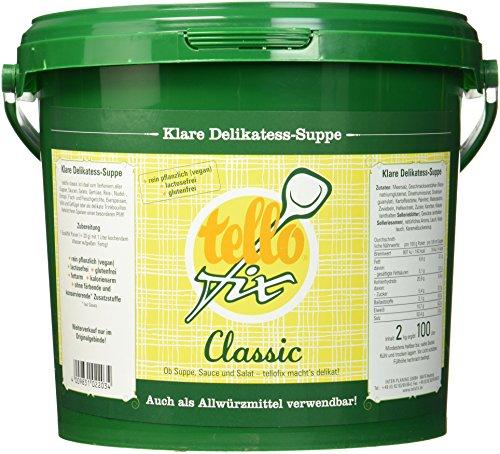 tellofix Klare Delikatess-Suppe Classic, 1er Pack (1 x 2 kg)