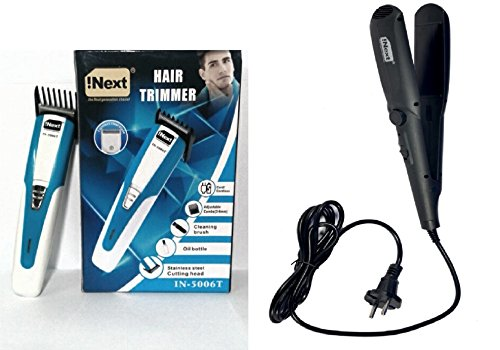 Combo Pack Offer Of Inext Trimmer And Inext Hair Straightening Machine For Men And Women Perfect Couple Combo... - B078HY9TGB