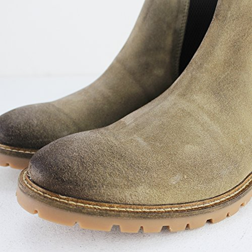 Base London Mens Turret Suede Boots Taupe