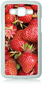Strawberries White Back Cover Case for Samsung Galaxy Grand 2 G7106