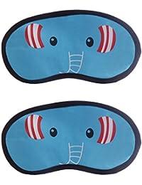 Jenna™ Elephant-Elephant Cartoon Face Sleeping Eye Mask (Pack Of 2)