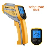 Tacklife IT-T06 Advance Digital Infrarot Thermometer Berührungsloses Dual Laser Thermometer -50C550C mit Non-Contact Voltage(NCV) , einstellbarem Emissionsgrad & Max Lesen