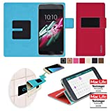Alcatel OneTouch Idol 3C Hülle Cover Case in Rot -