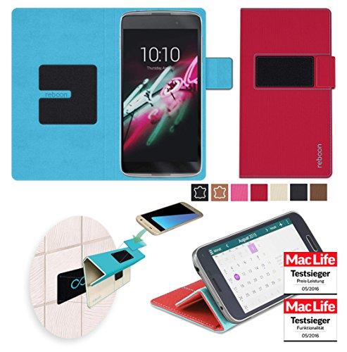 reboon Hülle für Alcatel OneTouch Idol 3C Tasche Cover Case Bumper | Rot | Testsieger