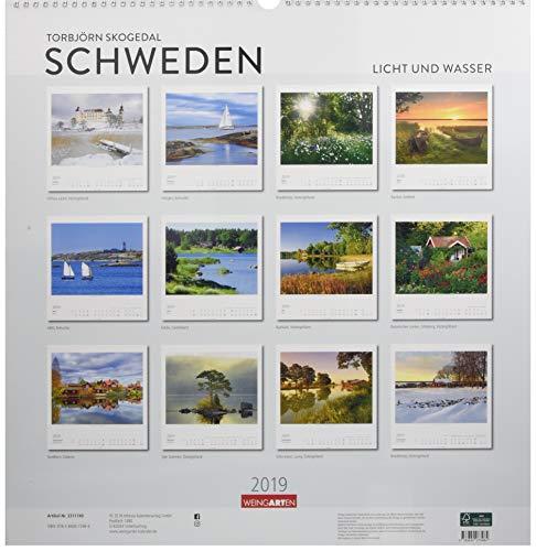 Schweden - Kalender 2019: Licht und Wasser: Alle Infos bei Amazon