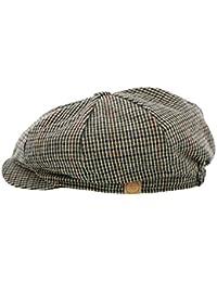 'Liam' Check Bakerboy Wool Blend Cap