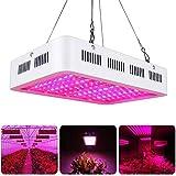Lampada per Piante Crescita 1000W 100 LED Full Spectrum,Lampada da Coltivazione Idroponica Illuminazione di Pannello per Indoor Serra Verdura Fioritura Grow Box