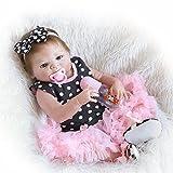 Decdeal - Reborn Muñeca Bebé Niña de Silicona con Ropa, 22 Pulgadas 55cm...