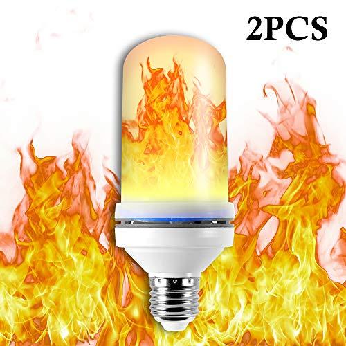 Kreema 2 stücke Flamme Birne E27 Basis Flackern Effekt Licht 2835 LED Perlen Simulierte Dekorative Lampe 5 Watt für Dekoration, hause, Bar