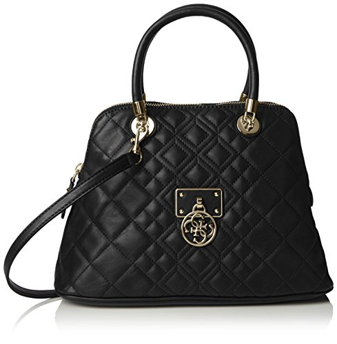 GUESS TASCHE - Aliza Dome Satchel - Black (Guess-handtaschen-top-zip Satchel)