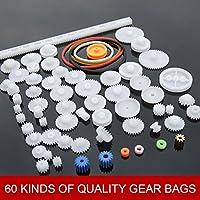 Fenghong DIY Gear, 60 Tipos de Bolsas de Equipo Finas DIY Material Hecho a Mano Engranaje de plástico Rueda Dentada Inteligencia Plástico DIY Toy Escuela de Motor