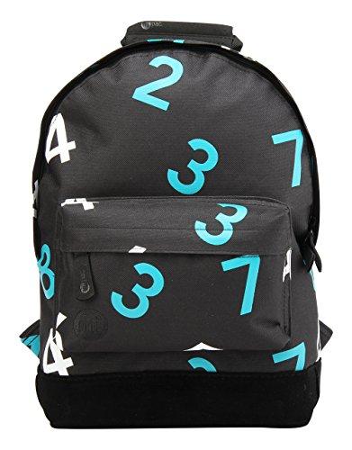 Mi-Pac Mini Backpack Mochila Infantil, 125 cm, 10.5 Litros, Numbers Black