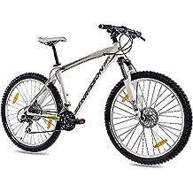 68,58 cm aluminio bicicleta de montaña bicicleta CHRISSON 27, 5ER UNISEX con 24 G SHIMANO de disco 2 x llantas de dragón blanco