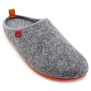 Andres Machado Unisex Hausschuhe für Damen und Herren für Sommer und Winter - Slipper/Pantoffeln Dynamic, Grau Orange, 44 EU