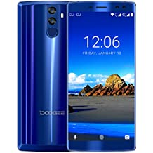 Smartphone Libre, DOOGEE BL12000 Moviles Baratos 4G Dual SIM, Pantalla de 6 Pulgadas 18:9 FHD+, 4GB RAM 32GB ROM, MT6750T Octa Core Android 7.0, Cámara Trasera 16+13 MP, 12000mAh Battery 12V3A Carga Rápida - Azul