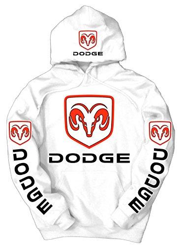Dodge Logo Hoodie, XXXX-Large White (Dodge Camo Hoodie)