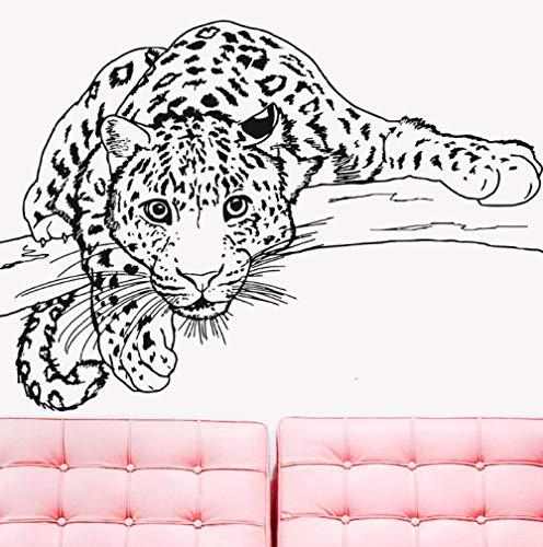 Etiqueta de la pared del arte Etiqueta de la pared etiqueta engomada del guepardo animal leopardo vinilo arte dormitorio decoración pegamento automático habitación de los niños Dibujado a mano