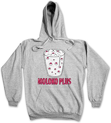MOLOKO PLUS SWEATSHIRT – Arancia latte meccanica Clockwork Alex Alexander Orange DeLarge Milk Korova Bar Punk Mod UK Burgees Taglie S – 5XL Ash