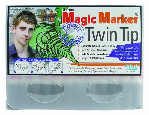 magic-marker-twin-tip-rotuladores-de-doble-punta-12-unidades-color-verde