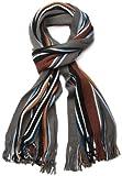 styleBREAKER Feinstrick Herrenschal im Streifen Look / Strickschal 01018117 (V22)