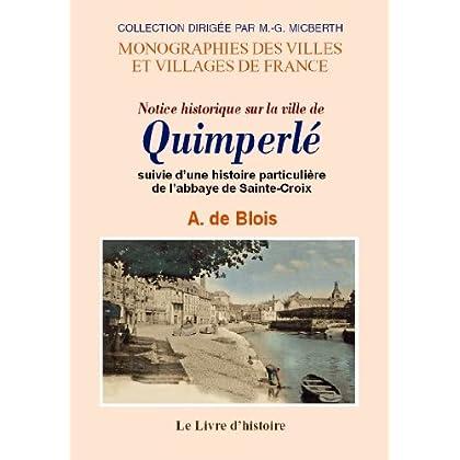 Quimperle (Notice Historique Sur la Ville de)