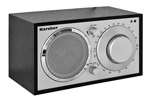 Karcher KA 230-S Radio (mit elegantem Holzgehäuse, MW / UKW Radio mit Antenne und Kopfhöreranschluss)
